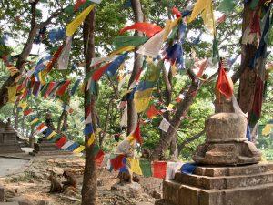 Gebetsfahnen in Kathmandu
