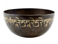 Gravierte Chakra Klangschale Stirnchakra Grüne Tara