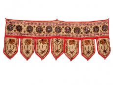 Indischer Türbehang Toran beige