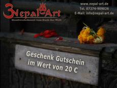 Nepal Art Geschenkgutschein 20 EUR