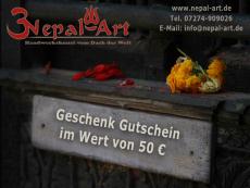 Nepal Art Geschenkgutschein 50 EUR