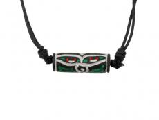 Mani Stein Halskette graviert Buddha Augen