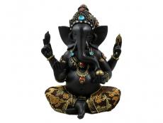 Ganesha Statue Abhaya Mudra schwarz