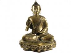 Buddha mit Vitarka Mudra - Messing Statue 50 cm