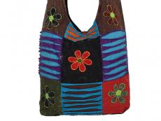 Patchwork Tasche Batik bunt mit Blumen