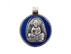 Anhänger Amulett - Akshobhya Buddha - blau