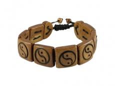 Armband Yak Knochen Yin und Yang