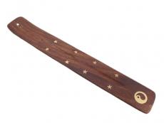Räucherstäbchenhalter Holz - Yin und Yang