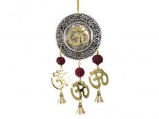 Windspiel - Glockenspiel Om mit Rudraksha