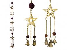 Windspiel Pentagramm mit Rudraksha (60cm)