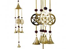 Windspiel - Glockenspiel mit 4 Pentagramm