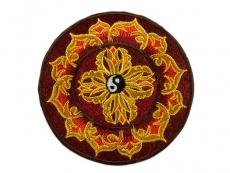 Aufnäher / Patch - Doppel Dorje mit Yin Yang