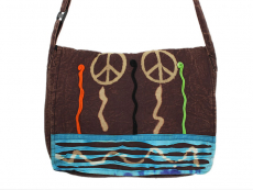 Patchwork Schultertasche Peace