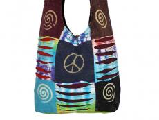 Patchwork Tasche mit Spirale Peace Motiv