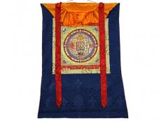 Thangka Rollbilld - Mantra Mandala Kalachakra