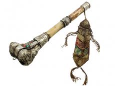 Tibetische Trompete - Knochen Kangling