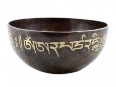 Gravierte Planeten Klangschale Majushri Jahreston Om