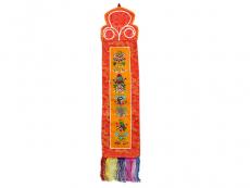 Tibetischer Wandbehang - 8 Glücksymbole (TW-1007)