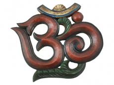 Om Symbol aus Holz - Wandbehang