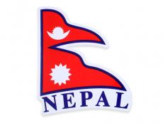 Aufkleber Sticker Fahne Nepal Flagge rechts-wehend