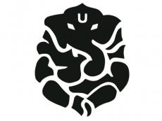 Aufkleber Sticker Ganesha