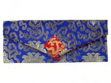 Tibetische Dharma Text Buchhülle blau