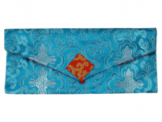 Tibetische Dharma Text Buchhülle hellblau