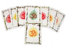 Grußkarten-Set Om Bodhi Blatt