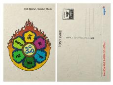Postkarte Om Mani Lokta Papier
