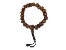 Hand-Mala Gebetskette mit Rudraksha Samen 9 mm
