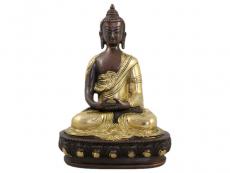 Amitabha Buddha Messing Statue 2 farbig