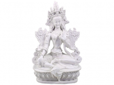 Grüne Tara Statue weiß 15 cm