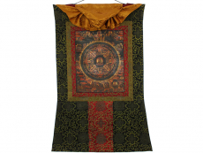 Altes Thangka Rollbild - Buddha Mandala