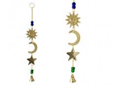 Windspiel Glockenspiel Sonne Halbmond Stern