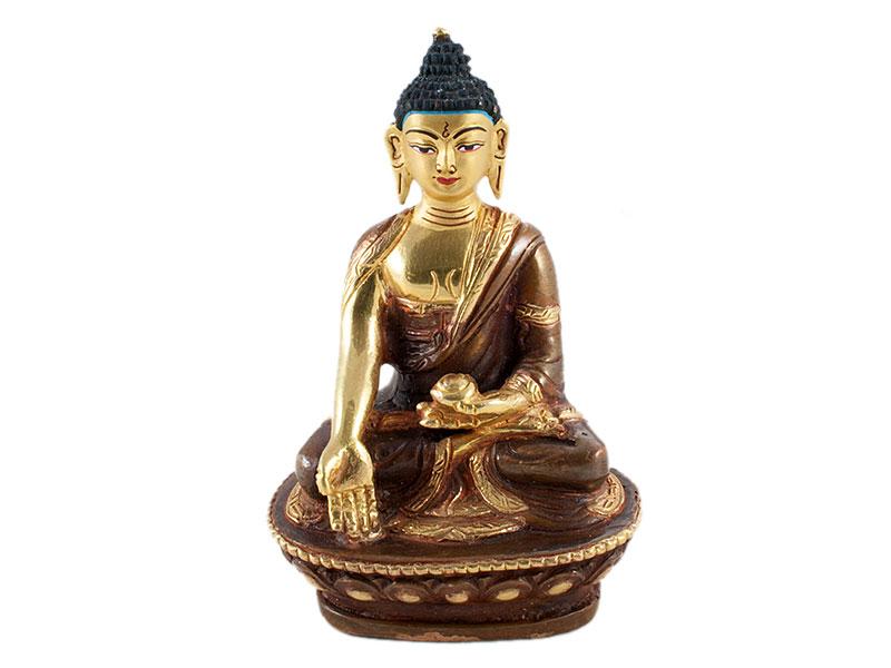 Medizin-Buddha - Feuervergoldet 8,5 cm