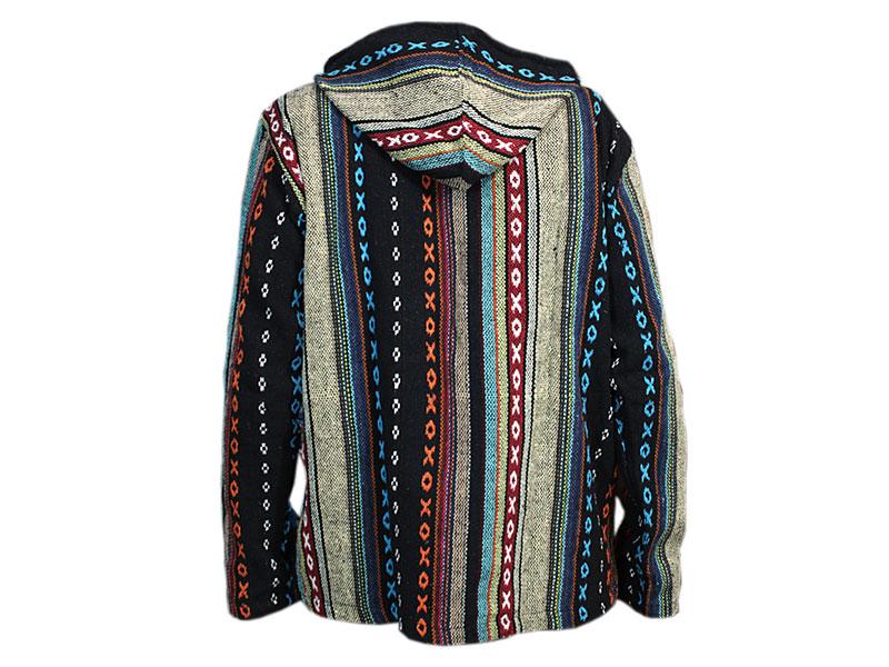 Baja Poncho Jacke Herren Pullover bunt
