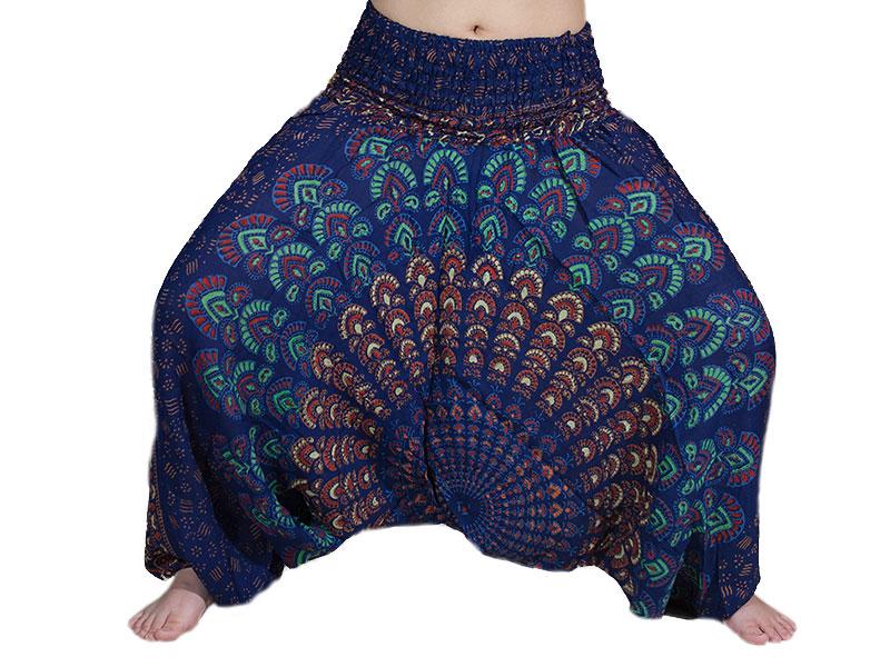 Haremshose Peacock Pfau Mandala