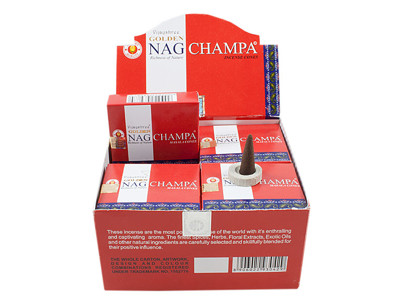 Golden Nag Champa Räucherkegel