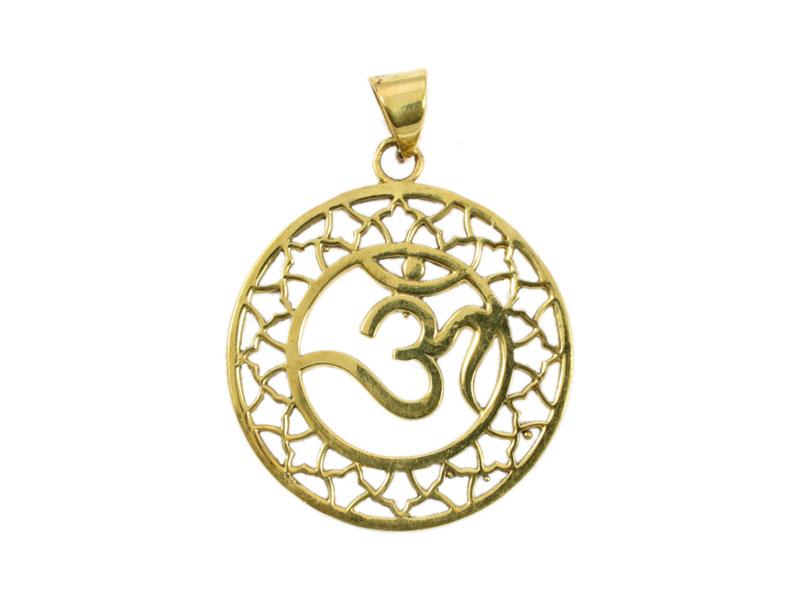 Om Anhänger Amulett vergoldet