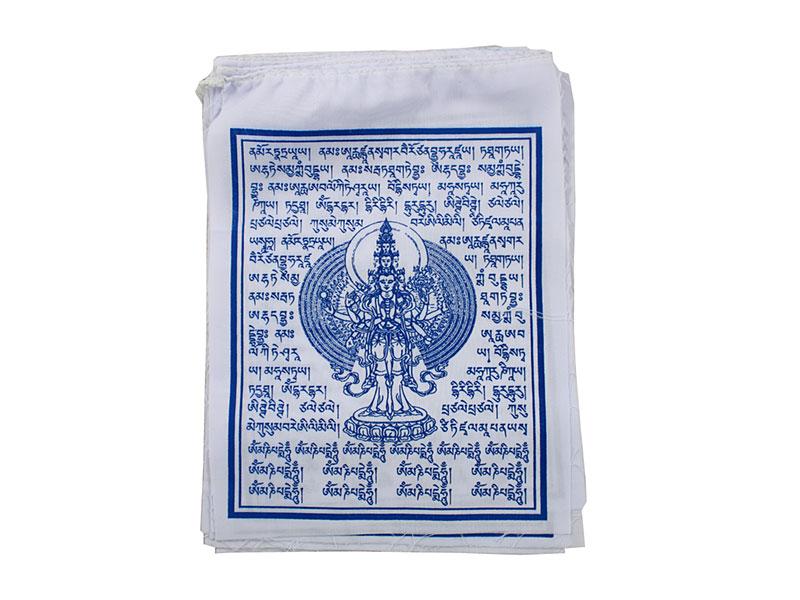 Tibetische Gebetsfahnen Avalokiteshvara 10 Fahnen
