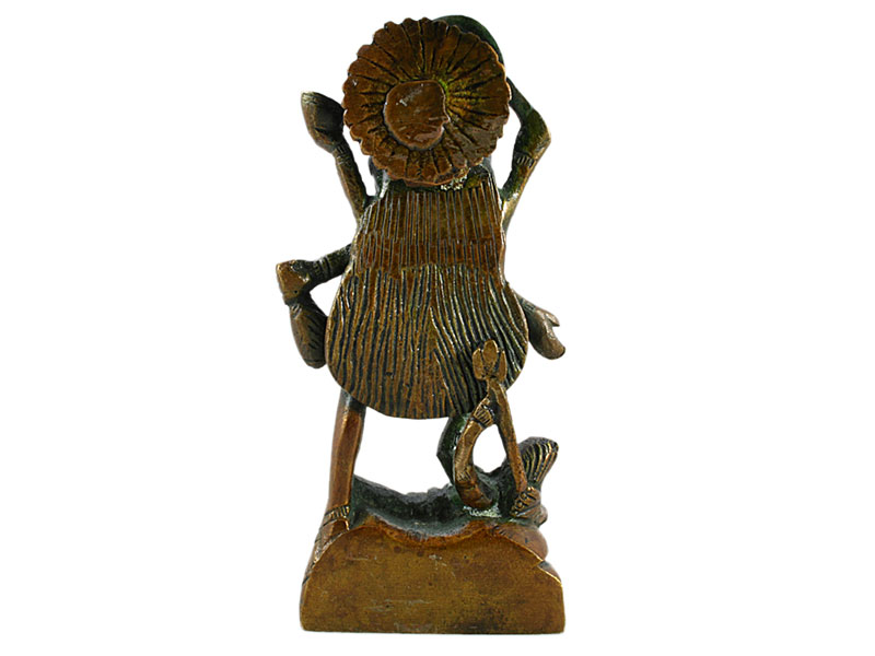 Kali Statue Figur stehend Messing