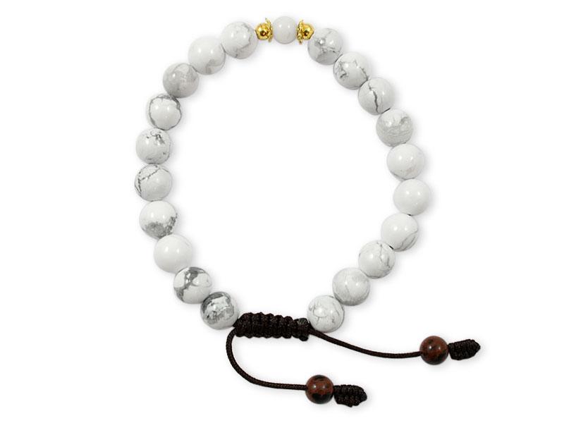 Howlite Armband mit Conch Shell Muschel Perle