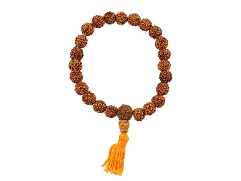 Hand-Mala Gebetskette - Rudraksha