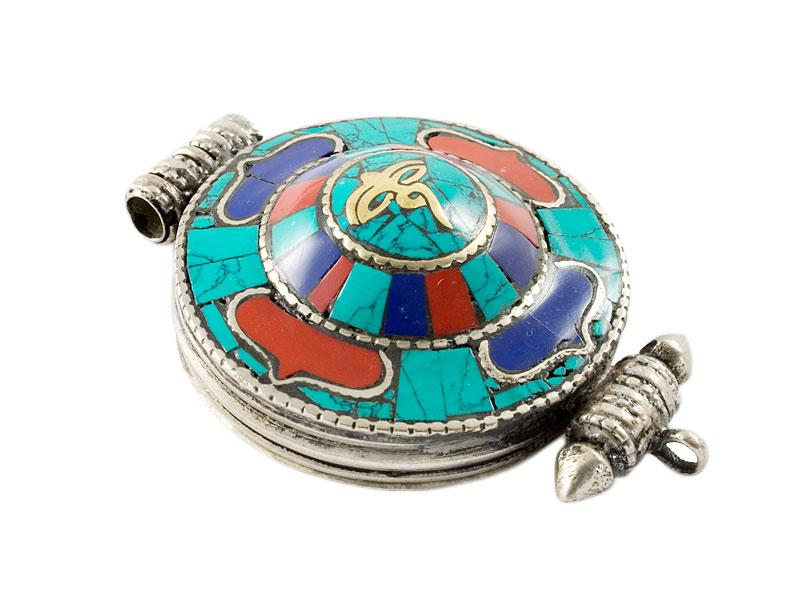Tibetische Ghau Box Medaillon - Doppel Dorje / Vajra