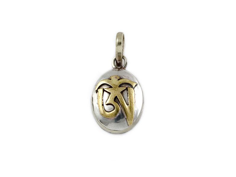 Tibetische Ghau Box Medaillon - Om / Aum Symbol