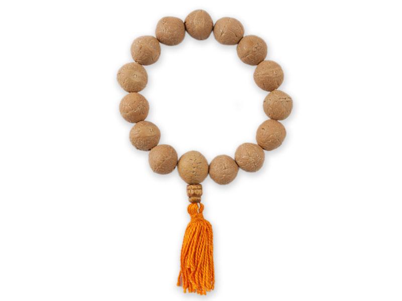 Handmala Mala aus RosenHolz aus Nepal Buddhistische Gebetskette Quaste Mala NEU