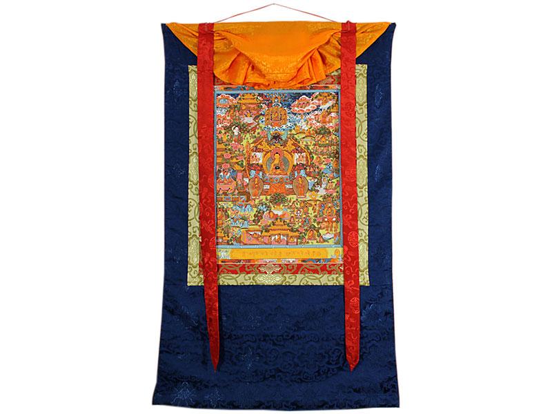 Thangka Rollbild - Buddha Life