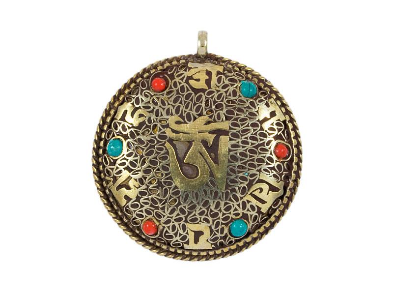 Anhänger Amulett Filigran - Dorje / Om