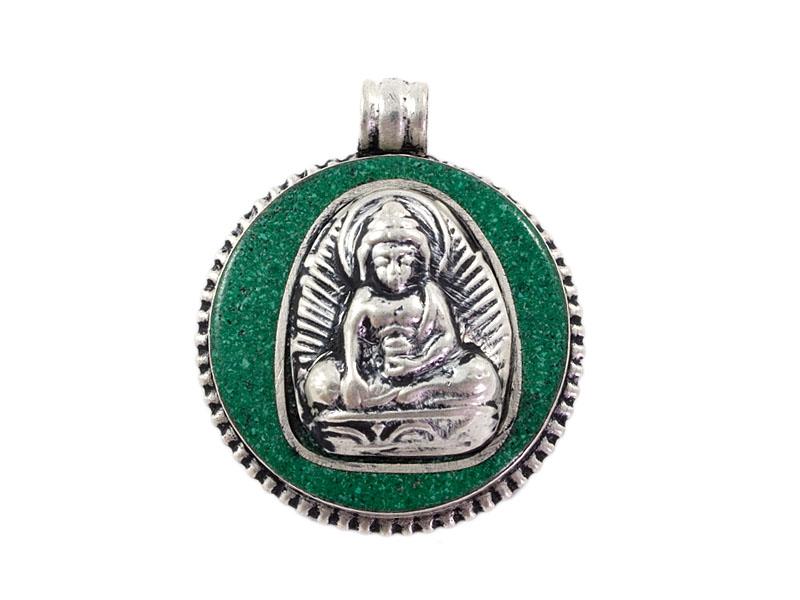 Anhänger Amulett - Akshobhya Buddha - grün