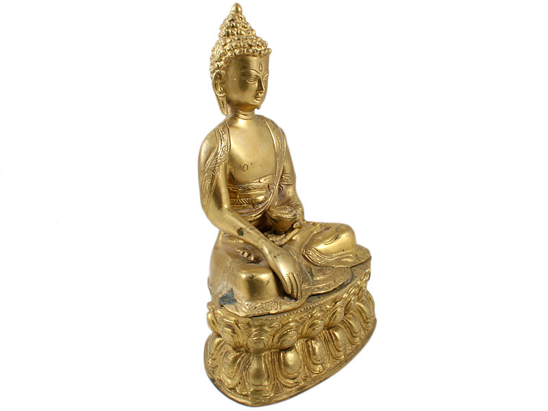 Akshobhya Buddha - Messing Statue 26 cm